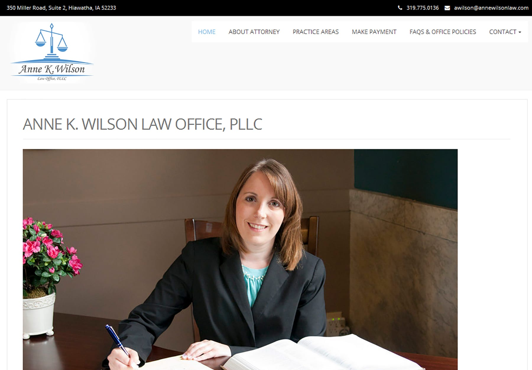 law office website design, hosting