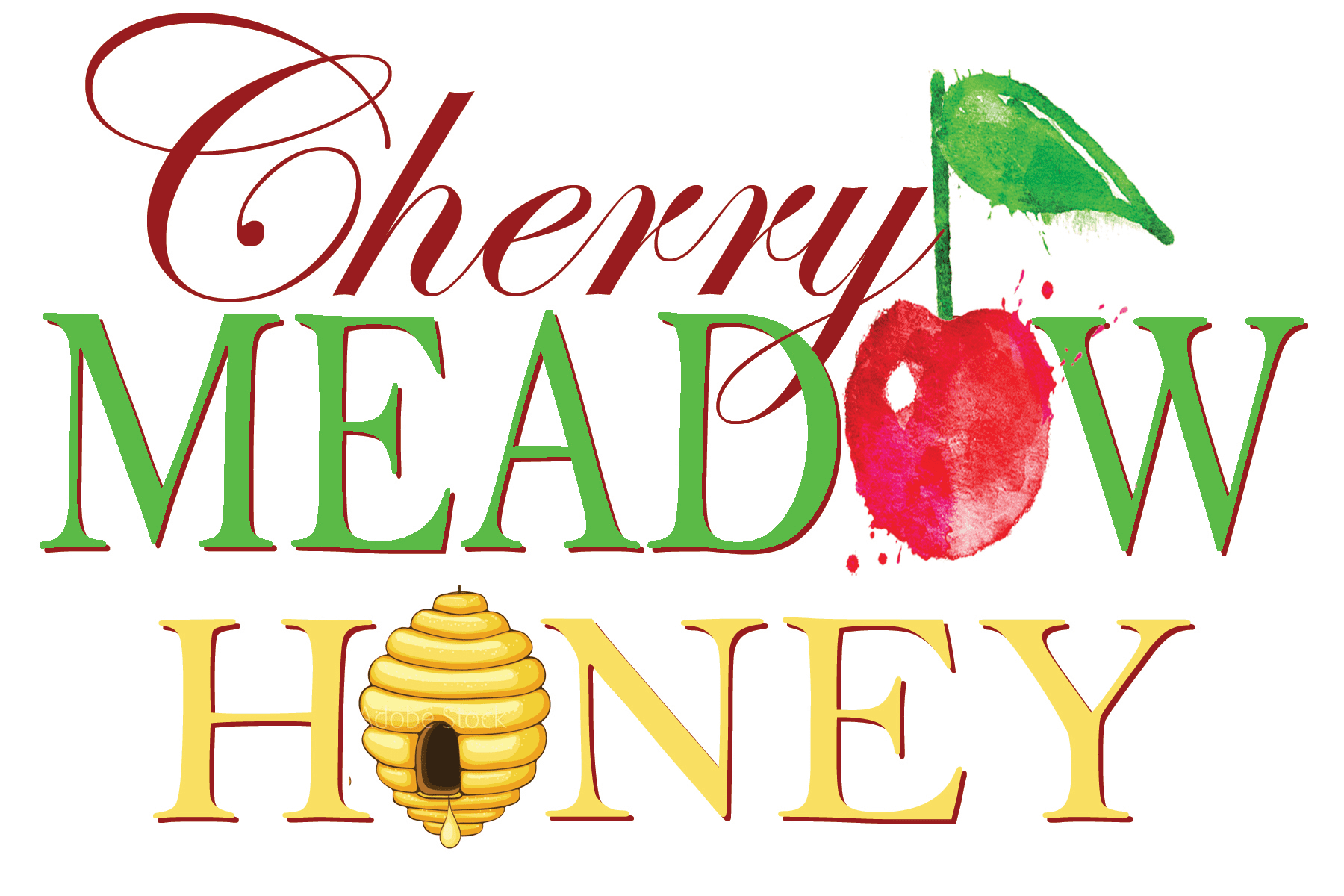 Cherry Meadow Honey logo design branding Cedar Rapids Iowa